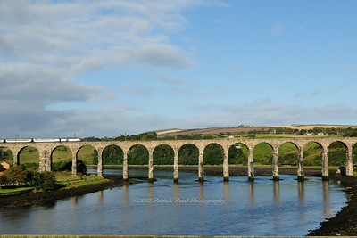 Royal Border bridge in the town of Berwick Upon Tweed