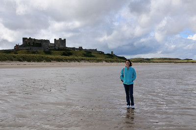 Lisa at Bamburgh Castle