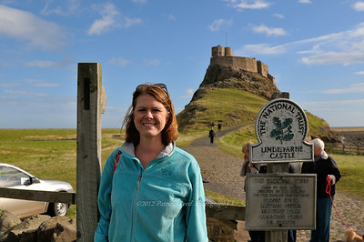Lisa at Lindisfairne Castle