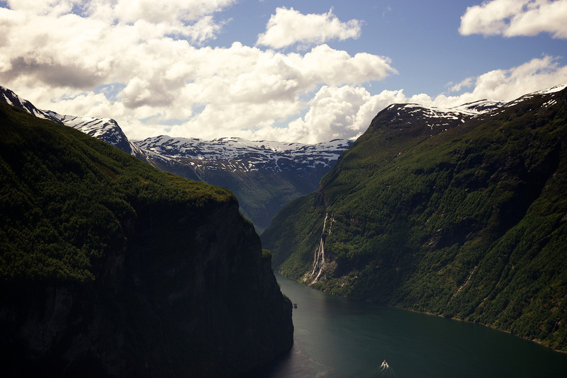 Geiranger Fjord and Seven Sisters Falls
