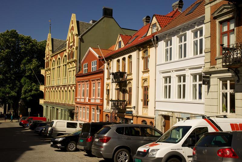 Picturesque city street Bergen