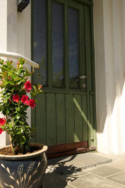 Flowers and a Green Door, Bergen