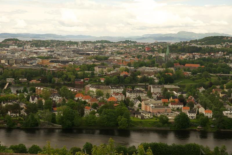 Trondheim Norway from Overlook