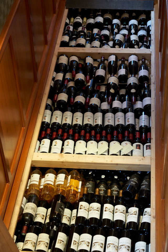 On board wine cellar