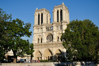 Entrance to Notre Dame in the late afternoon light