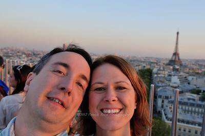 Us at the top of the Arc de Triomphe