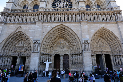 Three entrances to Notre Dame, one slightly different than the other two