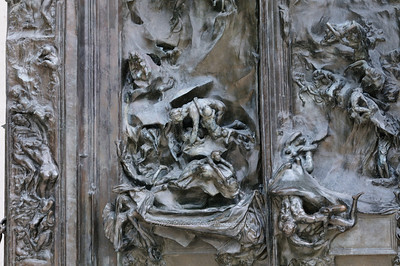 Close up of the Gates of Hell