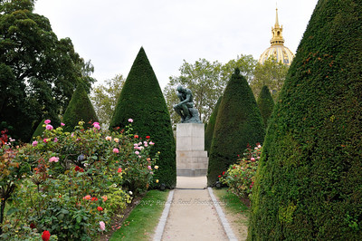 The Thinker in the gardens of the Rodin Museum