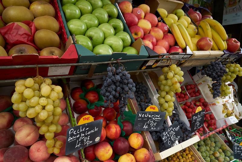 Street fruit display in Paris