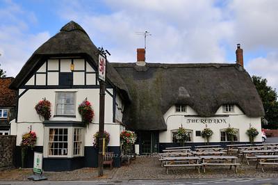 Thatched roof pub
