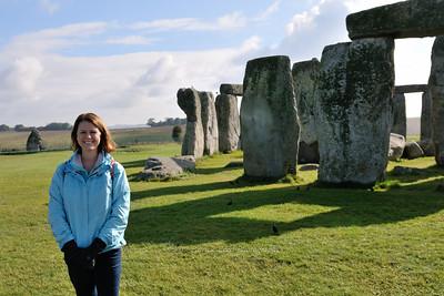 Lisa next to Stonehenge