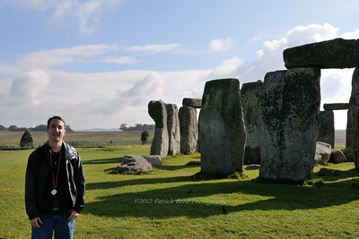 Patrick next to Stonehenge