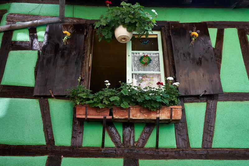 Decorated window Riquewihr