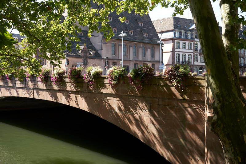 Bridge over central river Strasbourg