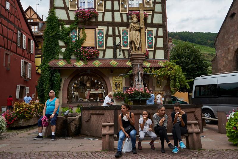 Tourists on break Kaysersberg