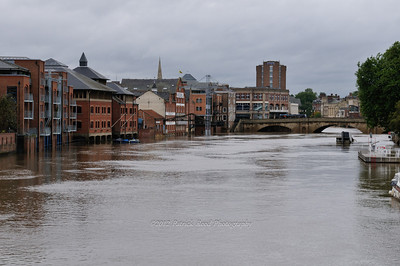 Flooded river in York