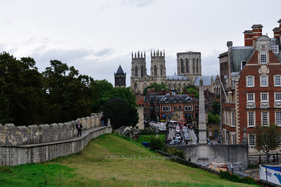 York's wall and Minster