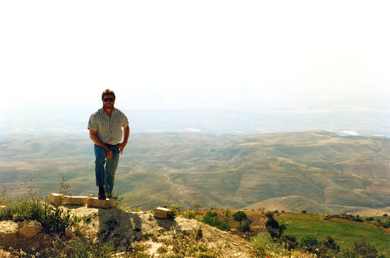 Overlooking the Jordan Valley from the Jordanian side before crossing over into Israel