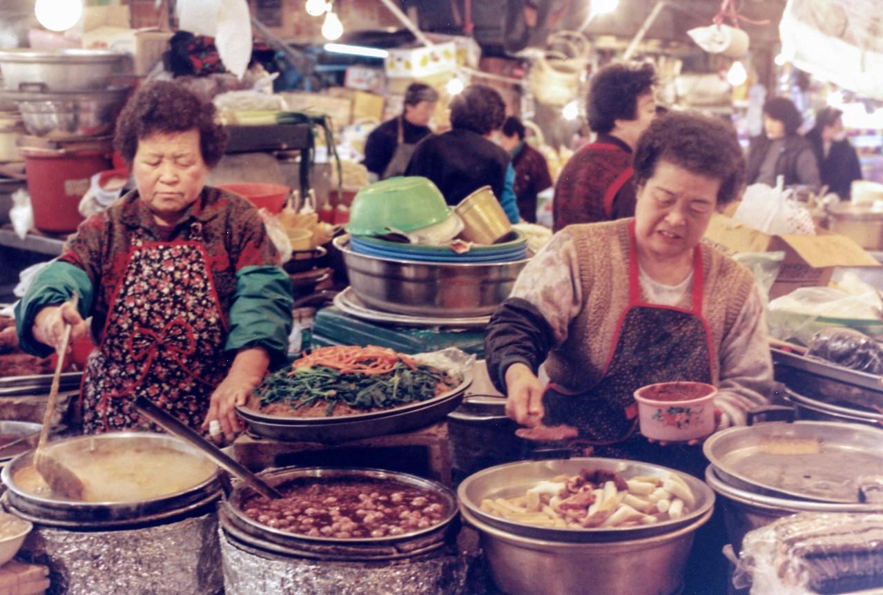 Food market, Seoul, S. Korea