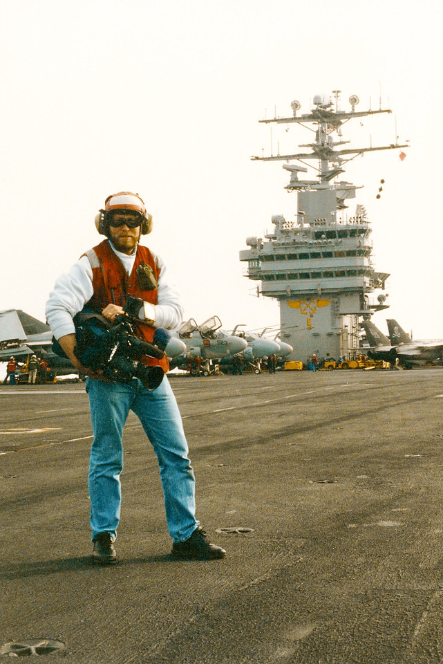 On the USS Theodore Roosevelt in the Adriatic Sea