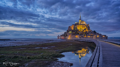 Dusk at Mont Saint Michel