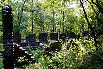 Marietta Paper Mill ruins on the banks of Sope Creek.