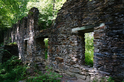 Marietta Paper Mill ruins on the banks of Sope Creek.  Burned down by the Union soldiers during the civil war July 5, 1864.