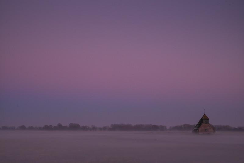 Foggy Fairfield Church.