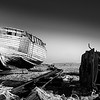 Derelict Fishing boat and ratchet.