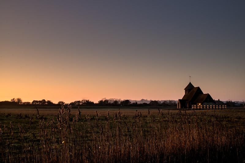 Fairfield Church, Sunset.