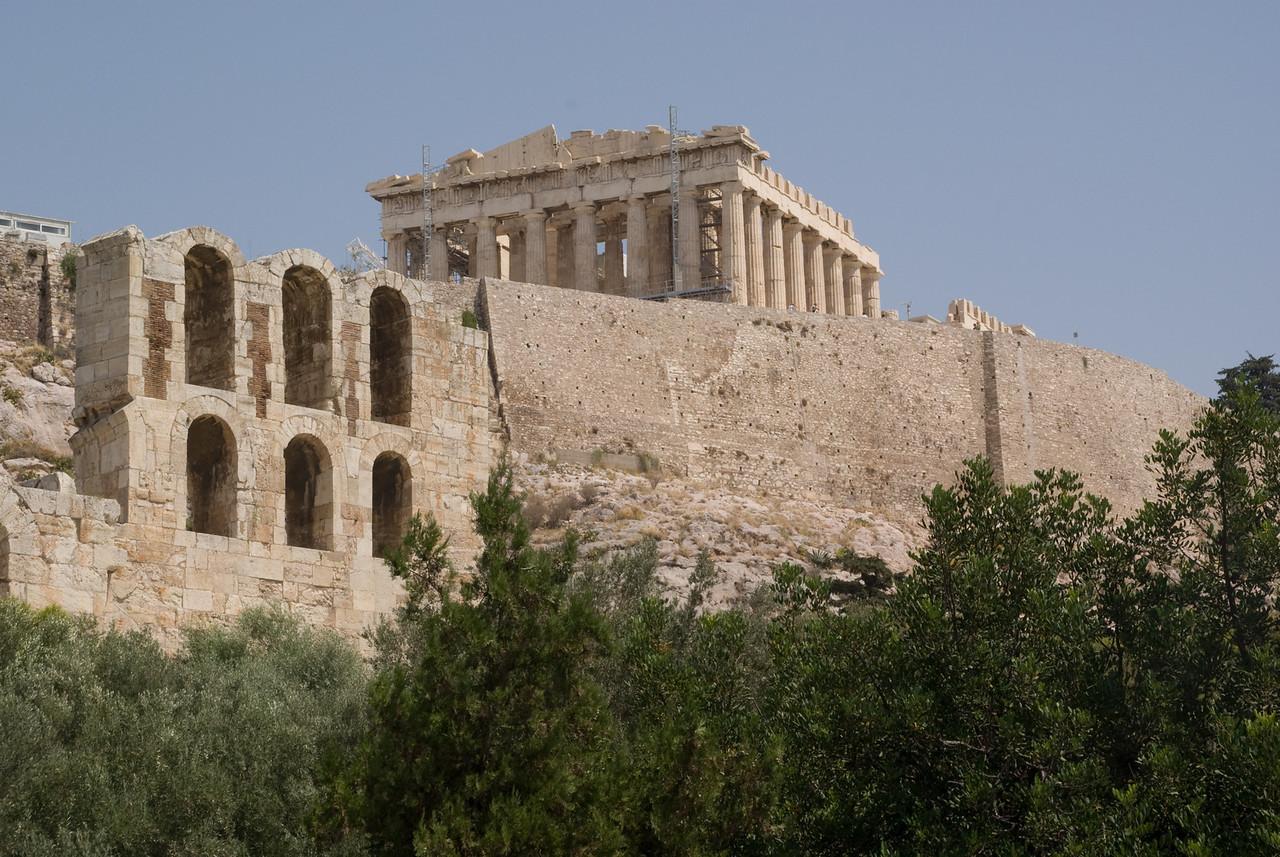 Athens<br /> Acropolisand temple of Athena Nike