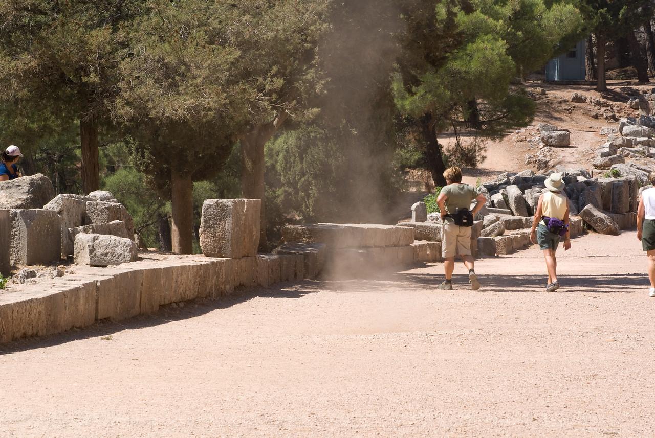 Greece Turkey 2007<br /> godly apparition, Delphi