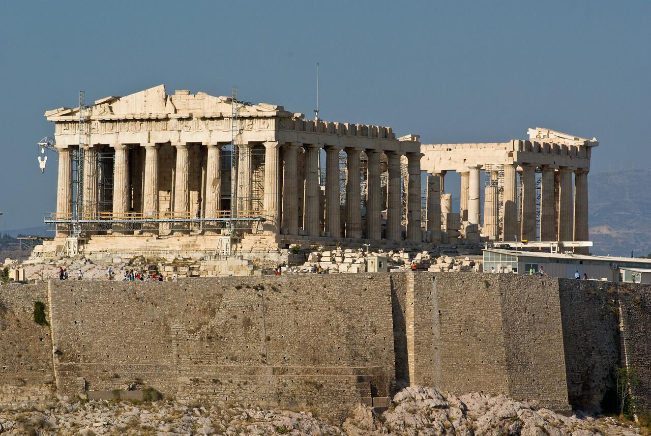Athens<br /> Acropolis from Filopappou Hill