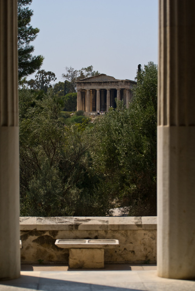 Greece Turkey 2007<br /> Haphaestus temple from the agora museum
