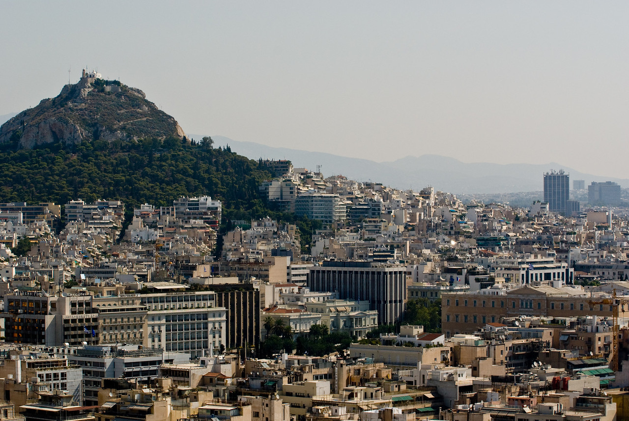 Greece Turkey 2007<br /> downtown Athens and Lycabetttus hill