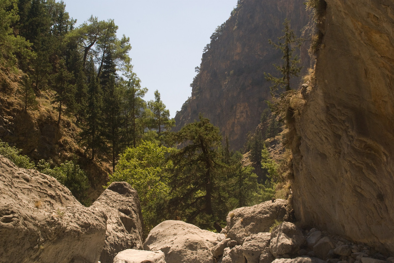 Greek Islands 2007<br /> Samaria gorge narrows