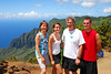 Miller family at Kalalau Lookout