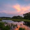 Beaver Dam Sunset at Schwabacher Landing