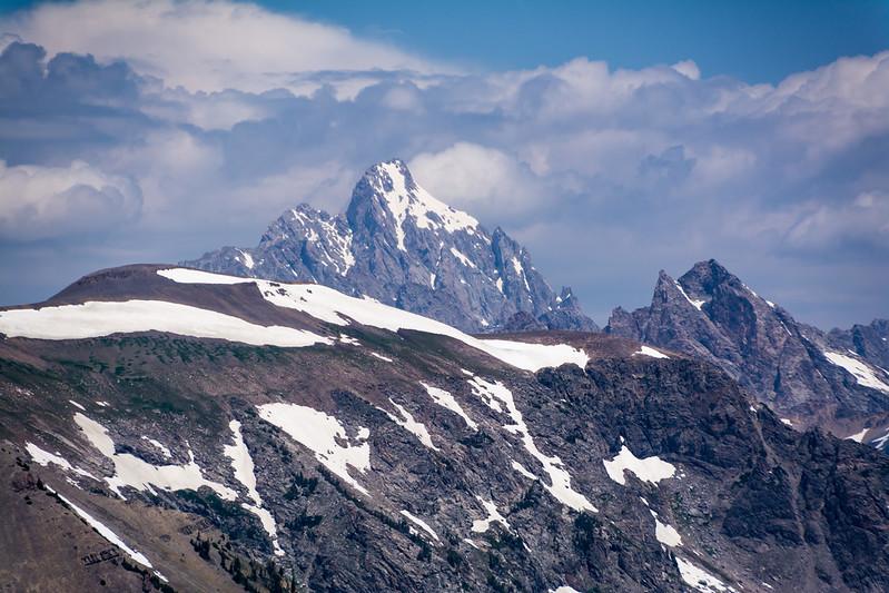 Grand Teton Peak from Rendezvous Mountain Peak.