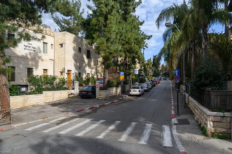 Street in modern Jerusalem
