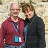 Tom and Marybeth at the Huldah gates.