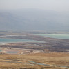 View of the area in the middle of the Dead Sea that is now exposed as the water is evaporated to mine the suspended materials.