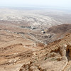 View from Masada looking down toward the Dead Sea.