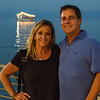 Jody and Howie posing by the Sea of Galilee