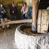 Replica of an Olive press.  Better quality oil with least pressure.