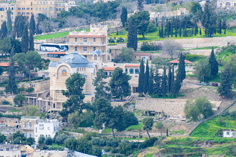 Caiaphas House from Mt of Olives