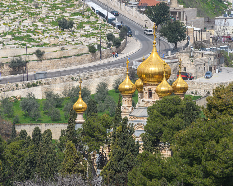 Church of All Nations seen on the descent from the Mount of Olives