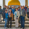 Posing with teh Dome of the Rock in the background