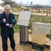 Hani telling us about the inscribed stone that connected written history with physical evidence of Pontius Pilate at Caesarea